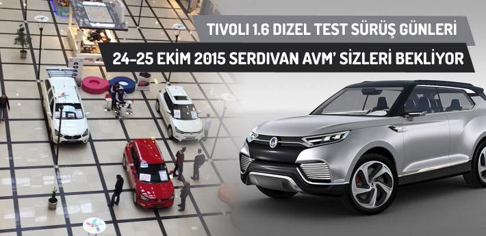 Serdivan AVM'de Tivoli test sürüş günleri