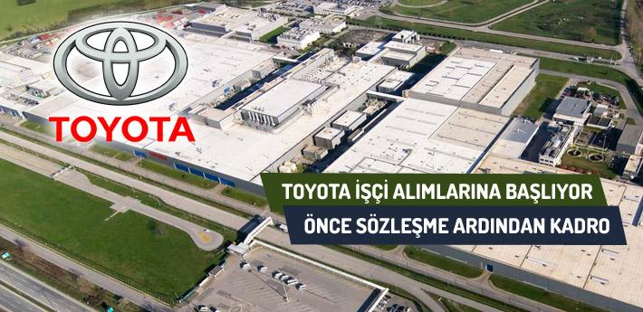Sakarya Toyota işçi alımına başlıyor