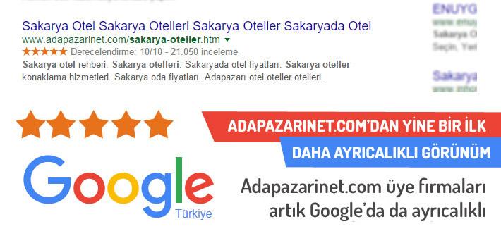 Adapazarinet.com Google aramalarında artık daha ayrıcalıklı