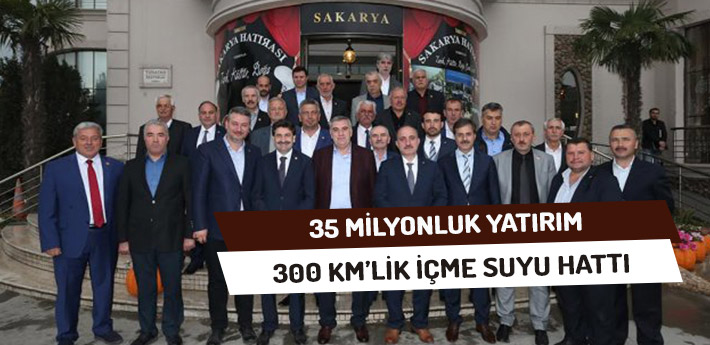 35 Milyonluk Yatırım 300 Kilometrelik İçmesuyu Hattı