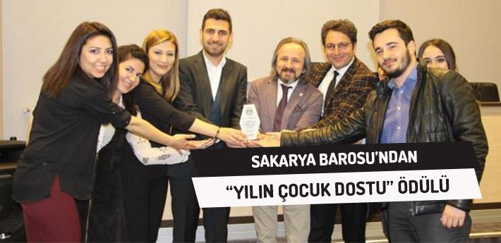 Sakarya Barosu'ndan 'Yılın Çocuk Dostu' Ödülü!
