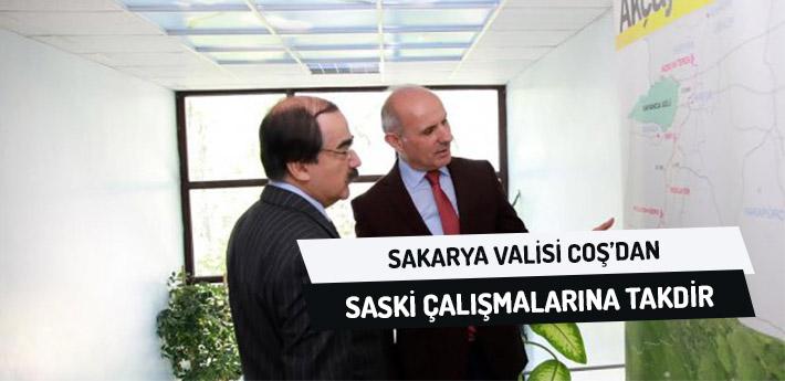 Sakarya Valisi Coş'tan SASKİ Çalışmalarına Takdir