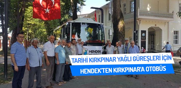 Hendek'ten Kırkpınar'a otobüs