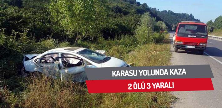 Karasu yolunda kaza: 2 ölü 3 yaralı