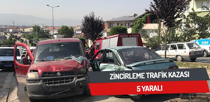 Zincirleme trafik kazası,5 yaralı