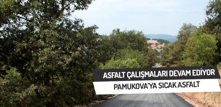 Pamukova'ya sıcak asfalt