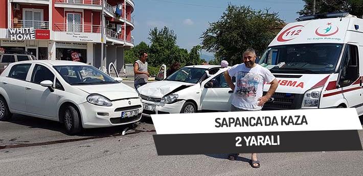 Sapanca'da trafik kazası,2 yaralı