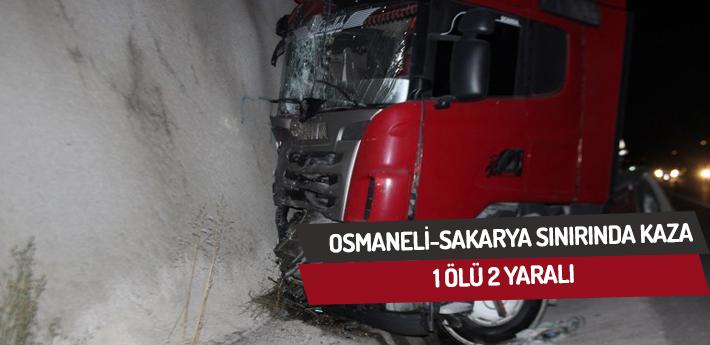 Osmaneli-Sakarya sınırında kaza,1 ölü 2 yaralı