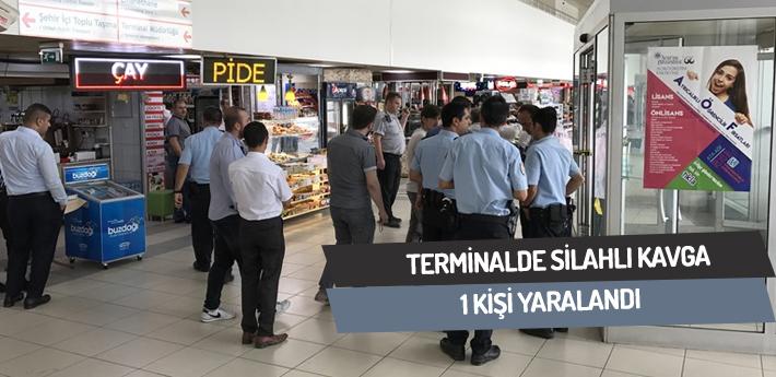 Terminalde silahlı çatışma! 1 yaralı