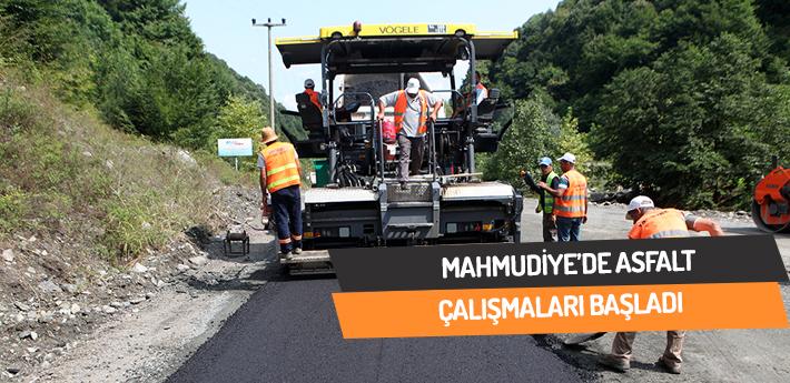 Mahmudiye'de asfalt çalışmaları başladı