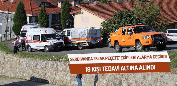 Serdivan'da 'ıslak peçete' ekipleri alarma geçirdi