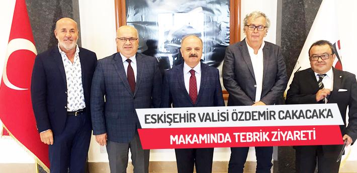 Eskişehir Valisi Özdemir Cakacak'a Makamında Tebrik Ziyareti