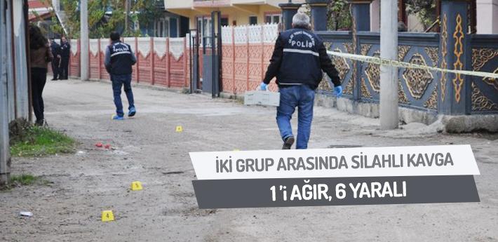 İki grup arasında çıkan silahlı kavgada kan aktı: 1'i ağır, 6 yaralı