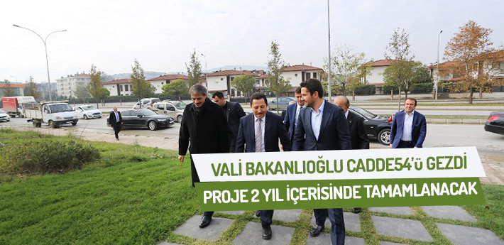 Vali Balkanlıoğlu CADDE 54'ü gezdi