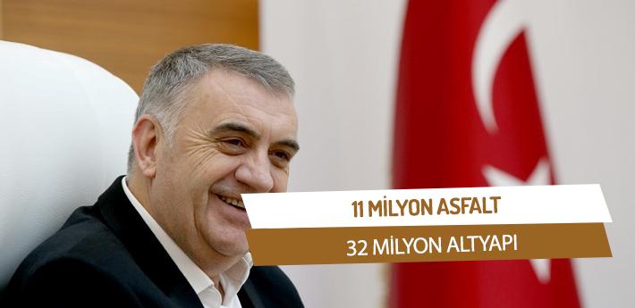 '11 Milyon Asfalt 32 Milyon Altyapı'