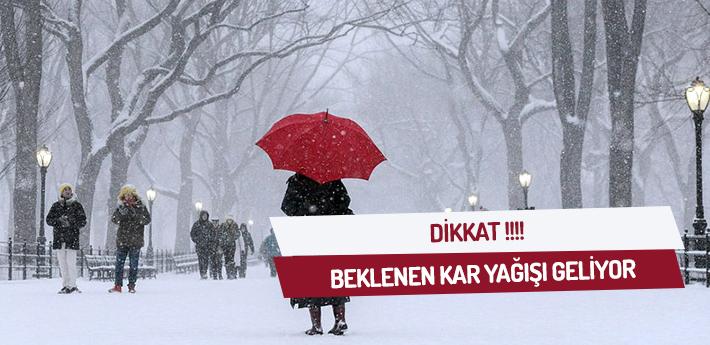 Dikkat! Beklenen Kar Yağışı Geliyor