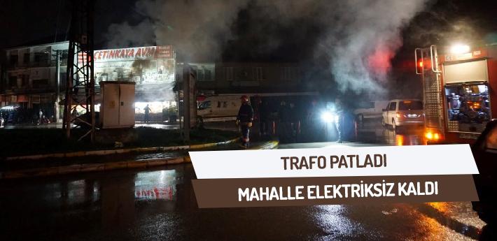 Trafo Patladı Mahalle Elektriksiz Kaldı