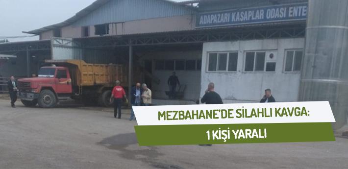 Mezbahane'de silahlı kavga: 1 yaralı