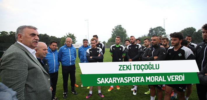 Toçoğlu Sakaryaspor'a moral verdi