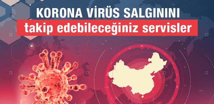 Korona Virüs salgınını takip edebileceğiniz servisler