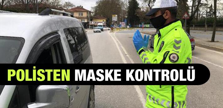 Sakarya'da polisten maske kontrolü