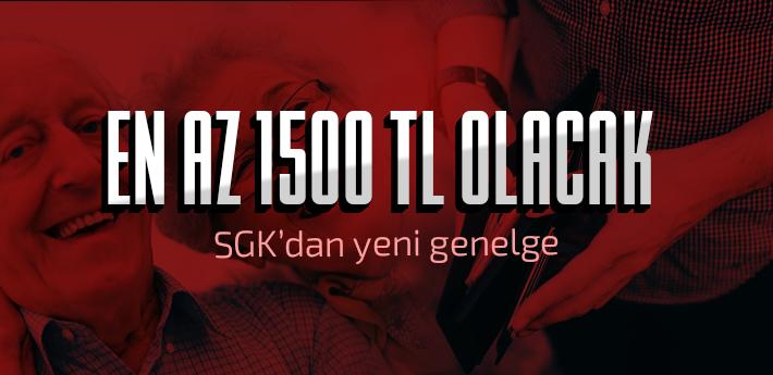 Yaşlılık ve ölüm aylıkları en az 1500 TL olacak!