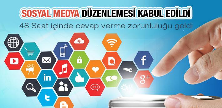 Sosyal Medya düzenlemesi kabul edildi!
