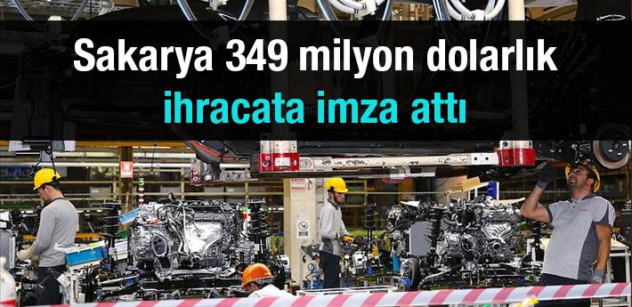 Sakarya otomotiv sektörü temmuzda 349 milyon dolarlık ihracata imza attı