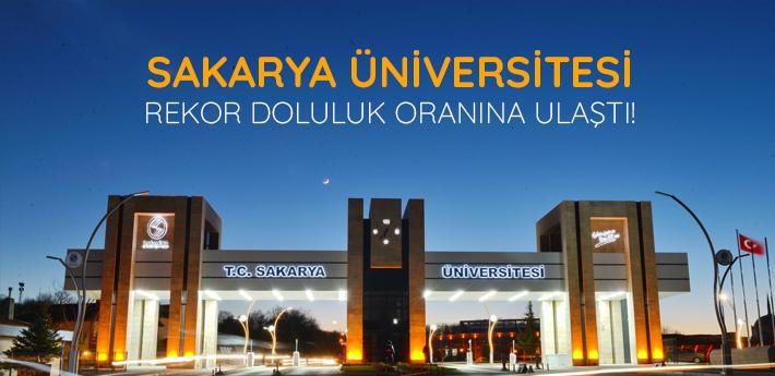 Sakarya Üniversitesi bu yık rekor doluluk oranına ulaştı