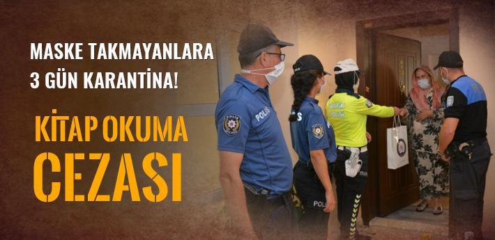 Sakarya'da maske takmayarak 3 gün karantinada kalacaklara kitapları dağıtıldı