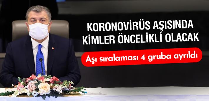 Türkiye'de koronavirüs aşısında kimler öncelikli olacak?