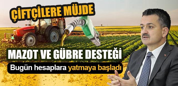 Çiftçilere Müjde! Mazot ve gübre desteği bugün hesaplara yatıyor