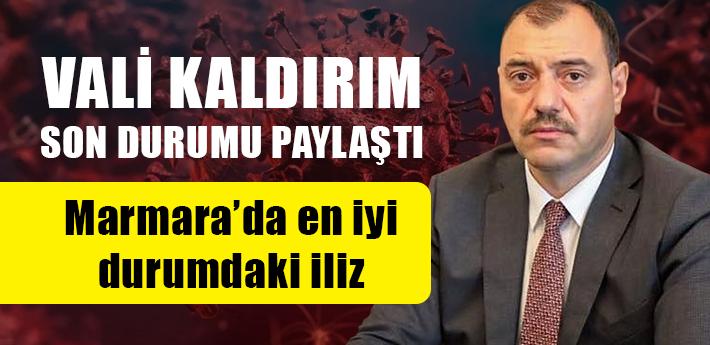 Vali Kaldırım son durumu paylaştı