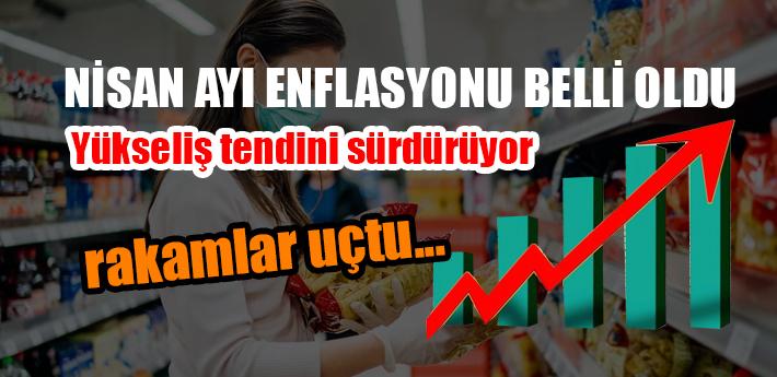 Enflasyon Nisan'da uçtu!
