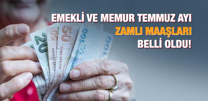 Emekli ve memur maaş zammı belli oldu! İşte en yüksek ve en düşük zamlı maaşlar