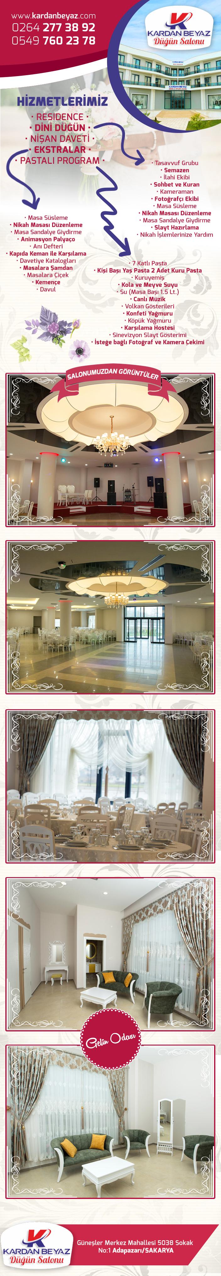 Kardan Beyaz Düğün Salonu