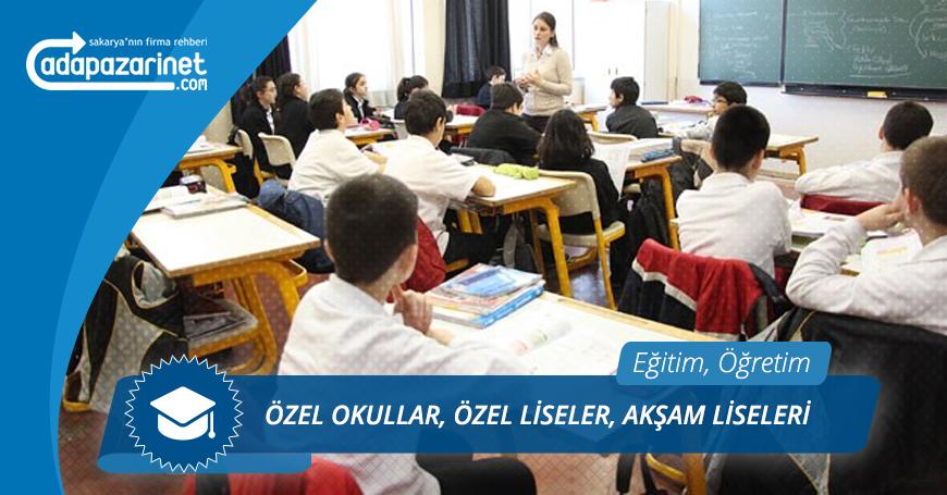 Sakarya Özel Okullar, Özel Liseler, Akşam Liseleri