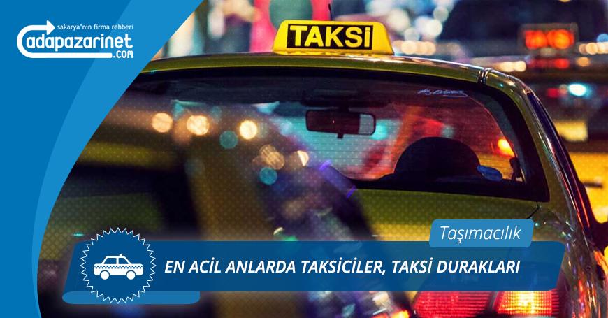 Sakarya Taksiciler, Taksi Durakları