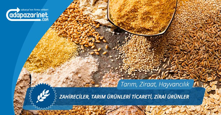Sakarya Zahireciler, Tarım Ürünleri Ticareti, Zirai Ürünler